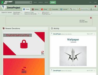 zeroxproject.deviantart.com screenshot