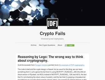 cryptofails.com screenshot