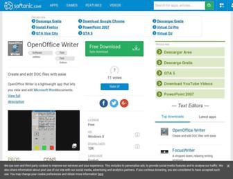 openoffice-writer.en.softonic.com screenshot