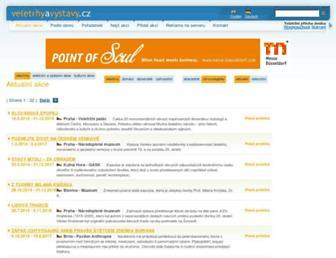 Main page screenshot of veletrhyavystavy.cz