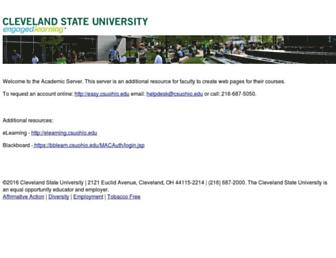 academic.csuohio.edu screenshot