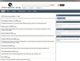 cdtracks.org screenshot