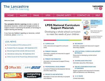 lancsngfl.ac.uk screenshot