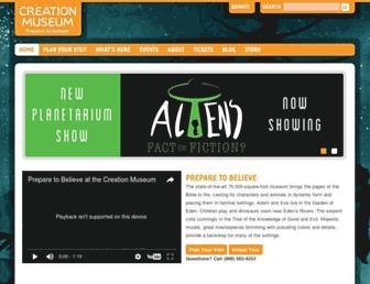 creationmuseum.org screenshot
