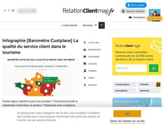 Main page screenshot of relationclientmag.fr