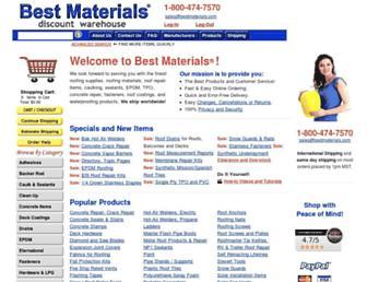 bestmaterials.com screenshot