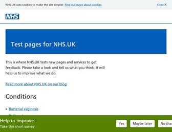 beta.nhs.uk screenshot