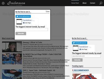 trailerzone.trendolizer.com screenshot