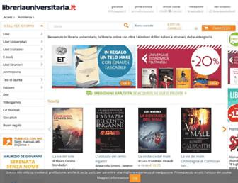 Main page screenshot of libreriauniversitaria.it