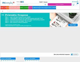 Main page screenshot of brandsaver.ca