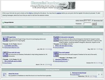 Main page screenshot of bargainbanter.co.uk