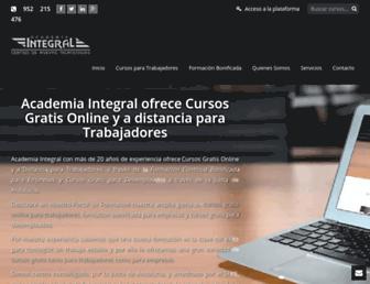 academiaintegral.com.es screenshot