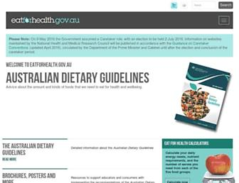 eatforhealth.gov.au screenshot