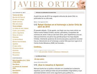 Main page screenshot of javierortiz.net