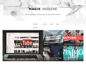 magazine.magix.com screenshot