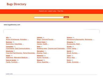 Thumbshot of Bugsdirectory.com
