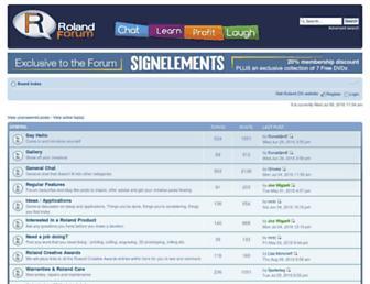 rolandforum.co.uk screenshot