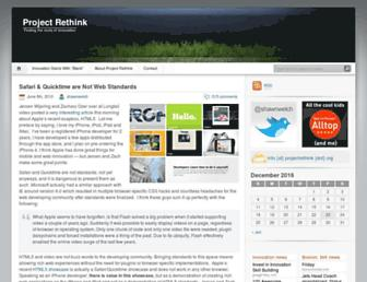 Main page screenshot of projectrethink.org