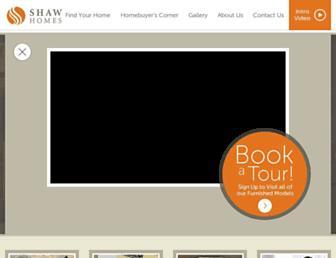 shawhomes.com screenshot