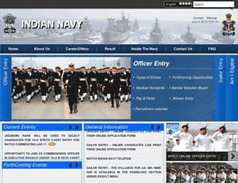 joinindiannavy.gov.in screenshot