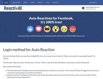 fbautoreactions.com screenshot