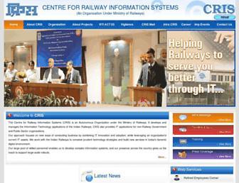 cris.org.in screenshot