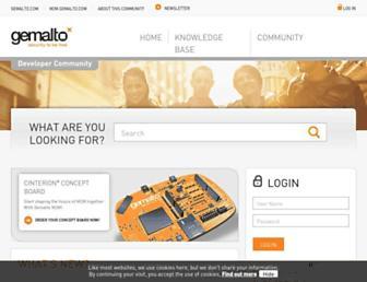 developer.gemalto.com screenshot