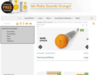 orangefreesounds.com screenshot
