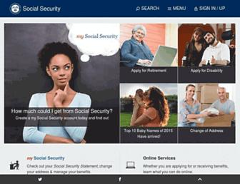 socialsecurity.gov screenshot