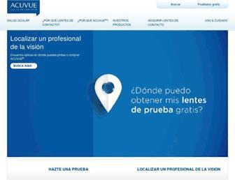 Main page screenshot of acuvue.hn