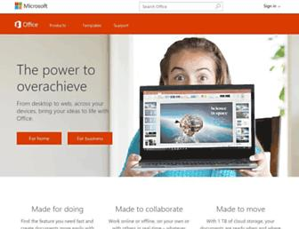 products.office.com screenshot
