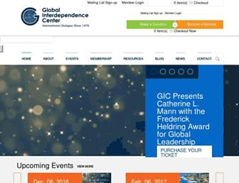 Main page screenshot of interdependence.org