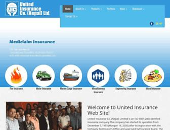 unitedinsurance.com.np screenshot