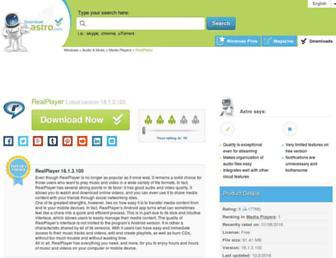 realplayer.en.downloadastro.com screenshot