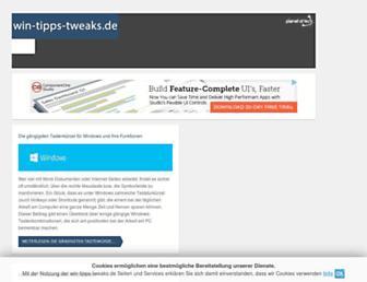 Main page screenshot of win-tipps-tweaks.de