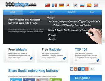 100widgets.com screenshot