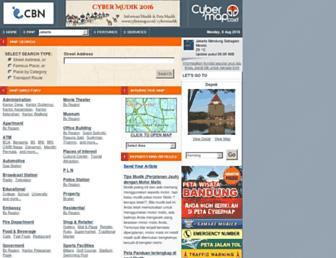 Main page screenshot of cybermap.co.id