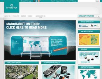 Main page screenshot of marquardt.de