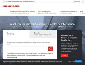 mx.kompass.com screenshot