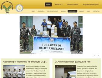 cagayandeoro.da.gov.ph screenshot
