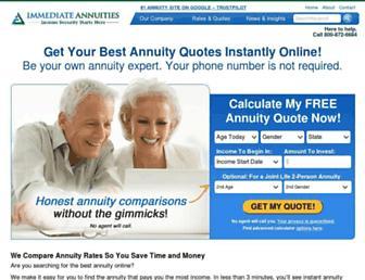 immediateannuities.com screenshot