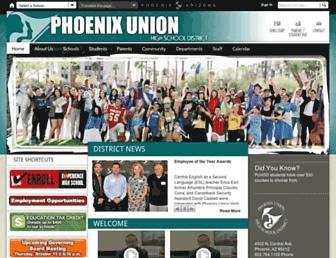 Main page screenshot of phxhs.k12.az.us