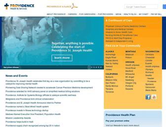 Main page screenshot of providence.org