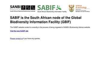 Main page screenshot of sabif.ac.za