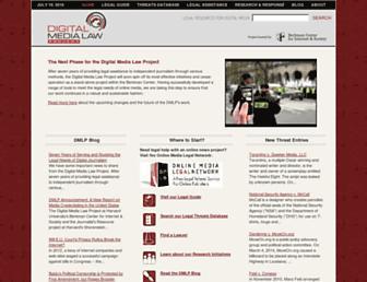 Main page screenshot of citmedialaw.org