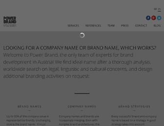 Main page screenshot of powerbrand.at