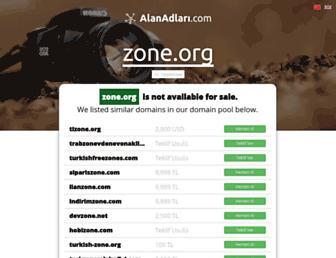 Main page screenshot of zone.org