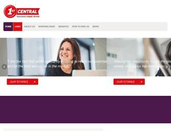 1stcentralcareers.com screenshot