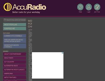 Thumbshot of Accuradio.com