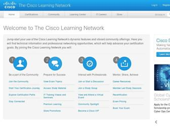 learningnetwork.cisco.com screenshot